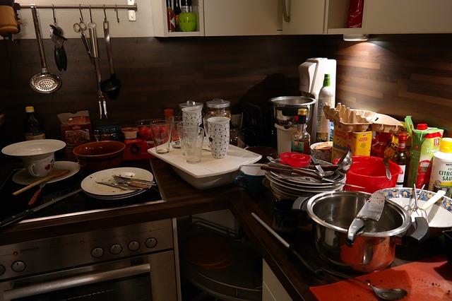 bordel v kuchyni